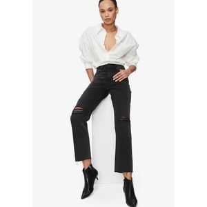 NEW ANINE BING Etta Jean In Black, SIZE-32